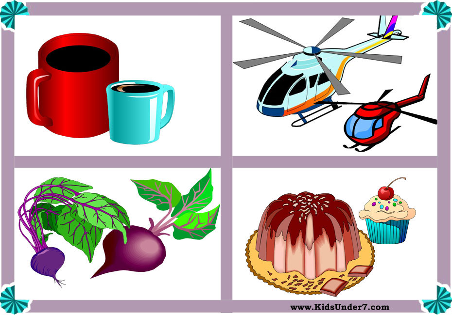 Big and small objects clipart banner royalty free library Kids Under 7: Big and Small Worksheets banner royalty free library
