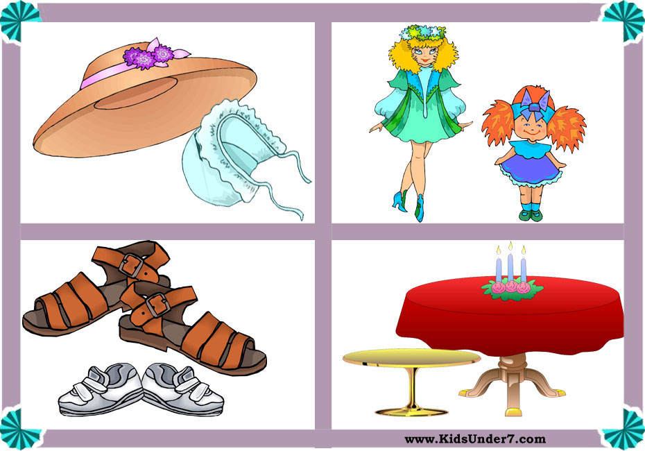 Big and small objects clipart clip Kids Under 7: Big and Small Worksheets clip