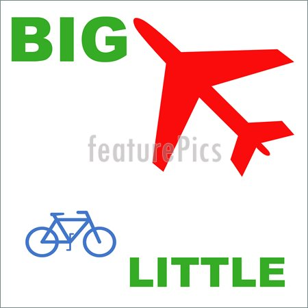 Big and small objects clipart vector transparent stock Big And Small Clipart - Clipart Kid vector transparent stock