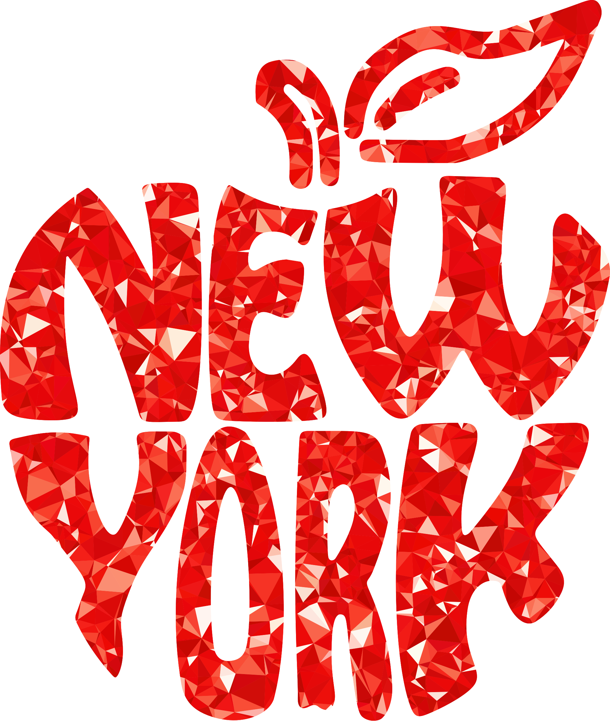 Big apple clipart vector freeuse stock Clipart - Ruby New York Big Apple vector freeuse stock