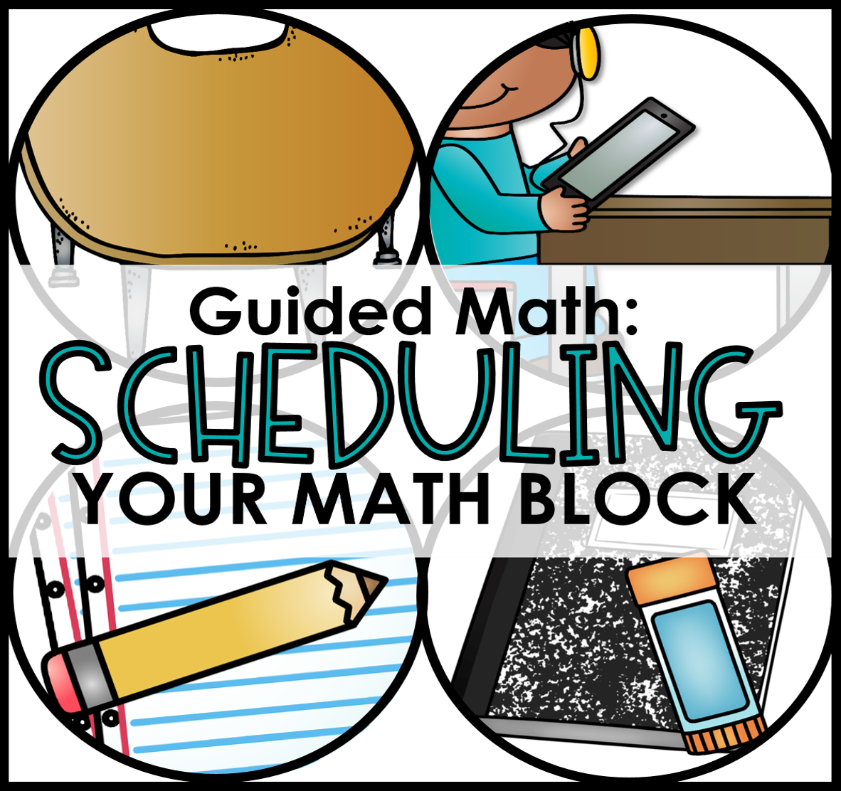 Big book center clipart vector black and white Scheduling Your Guided Math Block - Tunstall's Teaching Tidbits vector black and white