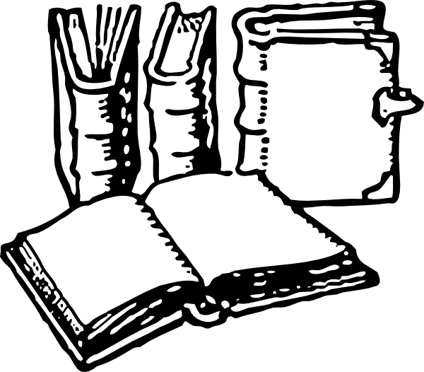 Big book clipart banner black and white library Books Clip Art at Clker.com - vector clip art online, royalty free ... banner black and white library