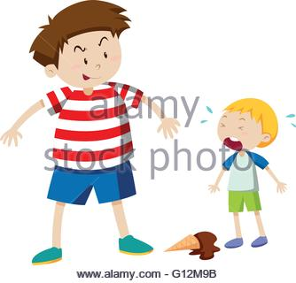 Big boy small boy clipart picture free Big Boy Bullying Small Boy Stock Photos & Big Boy Bullying Small ... picture free