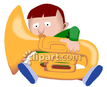 Big boy small boy clipart clip download Cartoon of a Small Boy Playing a Big Tuba - Royalty Free Clipart ... clip download
