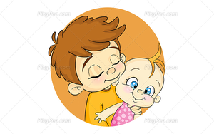Big brother and baby clipart graphic transparent library Big Brother And Baby Clipart | Free Images at Clker.com - vector ... graphic transparent library