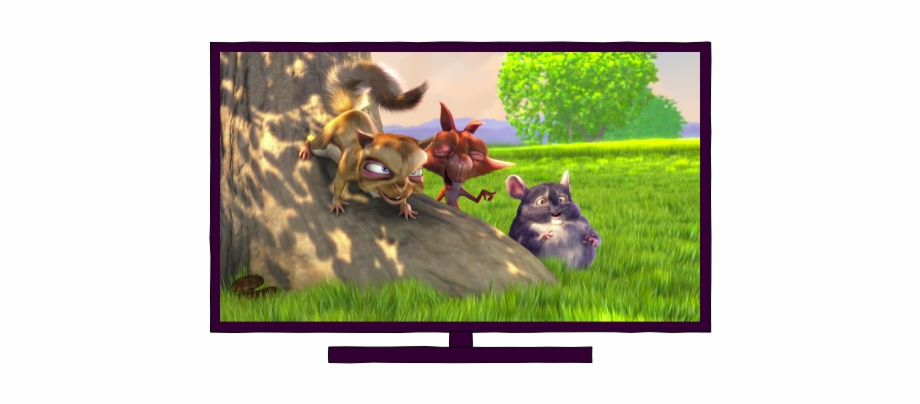 Big buck bunny clipart svg freeuse 1/7 - Watching Tv - Big Buck Bunny Free PNG Images & Clipart ... svg freeuse