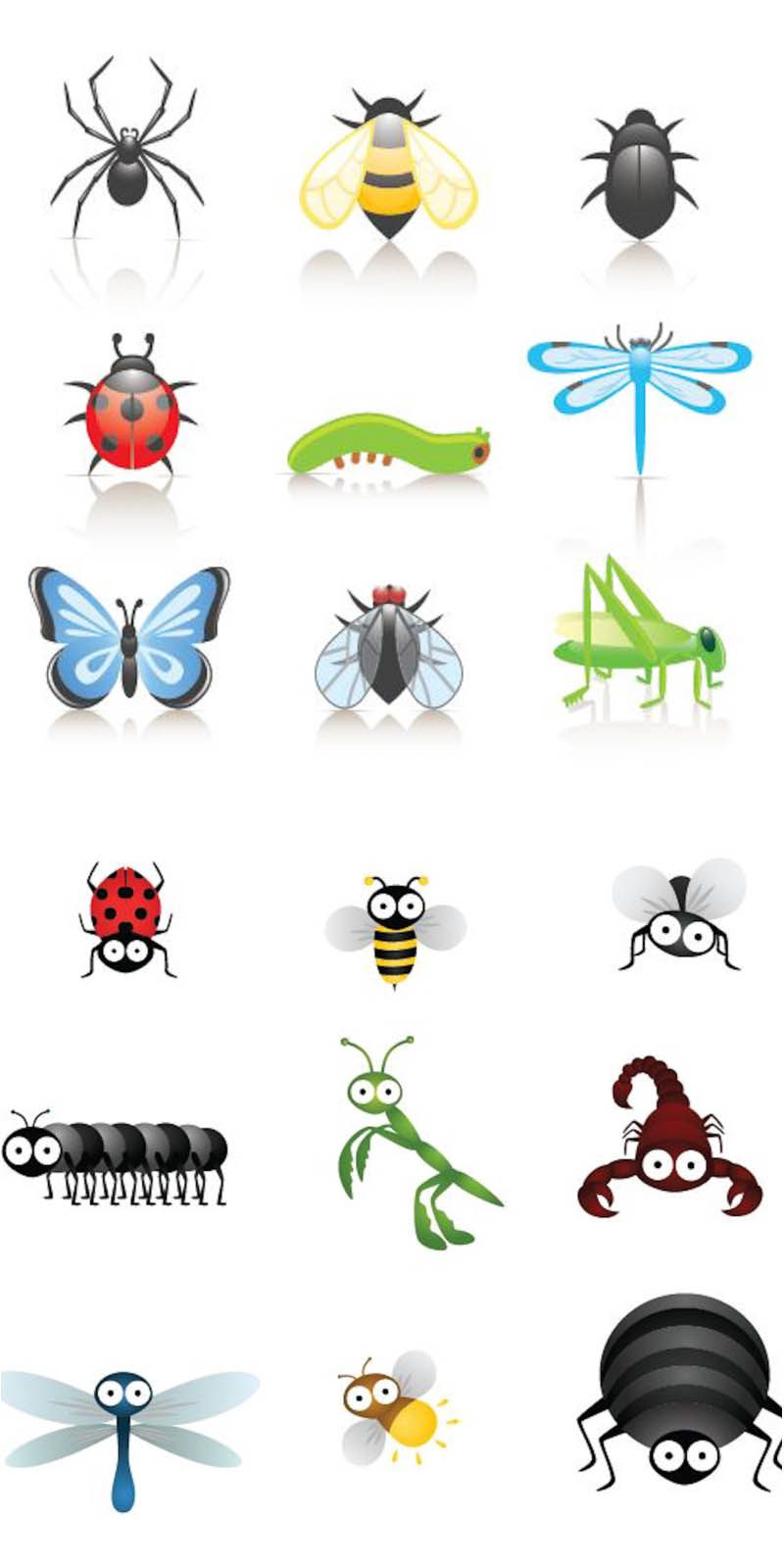 Bugs group clipart banner freeuse Cartoon+Bugs+Clip+Art | Cute cartoon insects vector | Vector ... banner freeuse