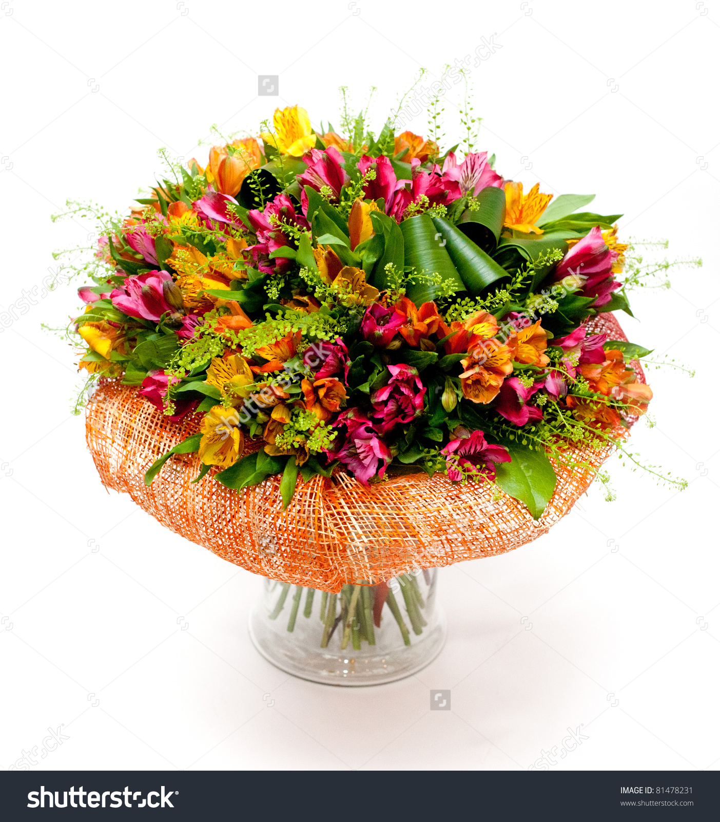 Big bunch of flowers image graphic download Big Bunch Multicolored Flowers Vase Stock Photo 81478231 ... graphic download