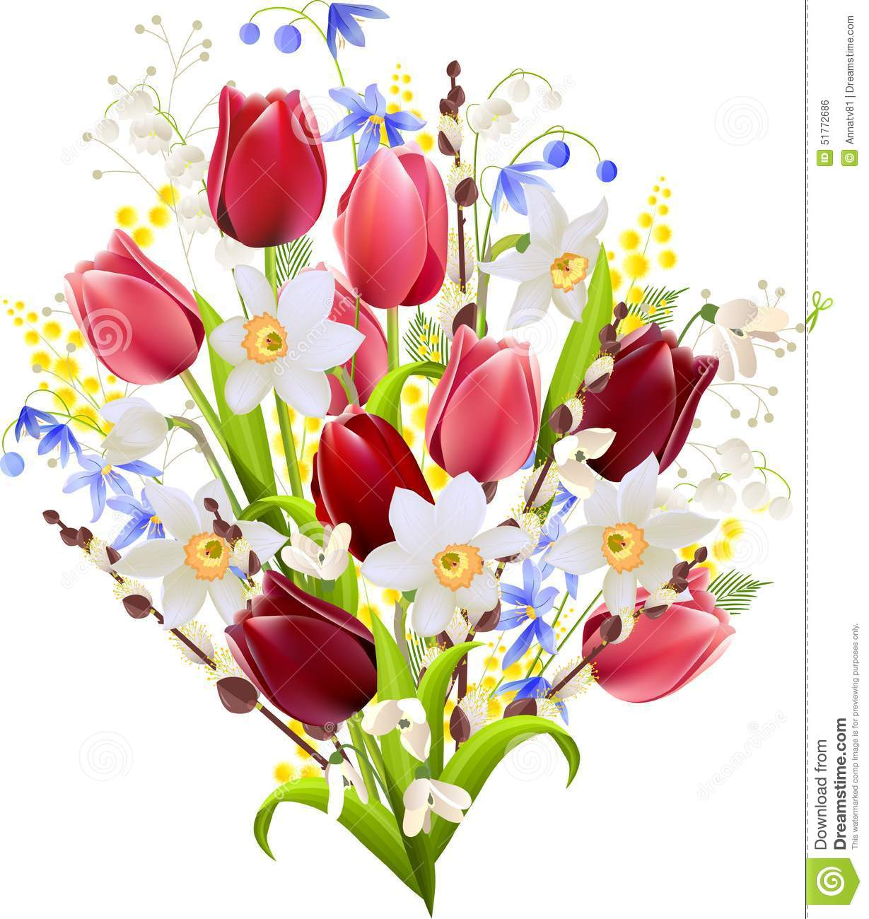 Big bunch of flowers image jpg free Big Bunch Of Spring Flowers Stock Vector - Image: 51772686 jpg free