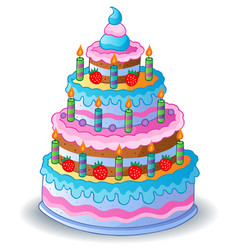 Big cake clipart clipart freeuse stock Birthday Cake Clipart Vector Images (over 430) clipart freeuse stock