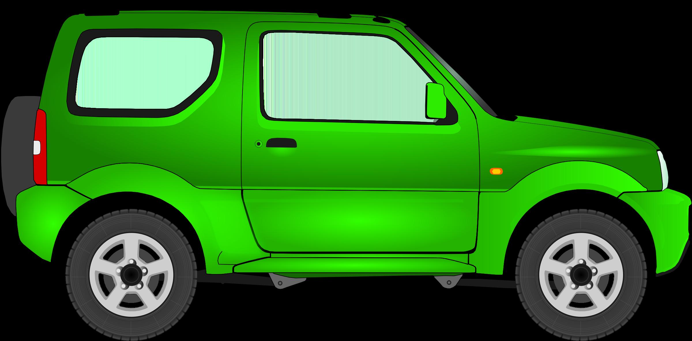 Clipart car transparent jpg black and white Clipart - Car 15 (green) jpg black and white