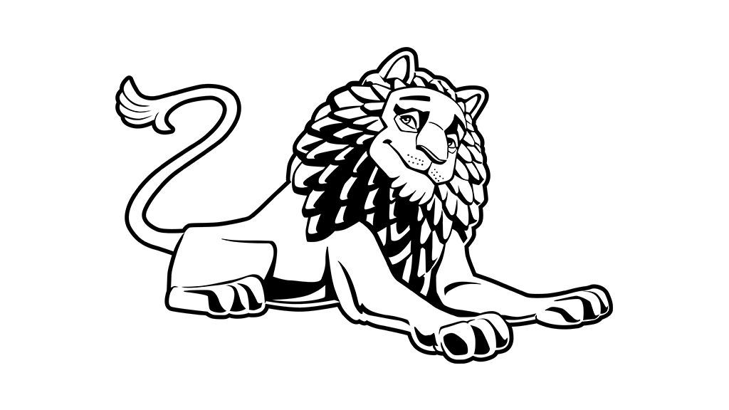 Big cat black and white clipart image transparent library Lion of Babylon Tiger Whiskers Cat - lion 1024*576 transprent Png ... image transparent library