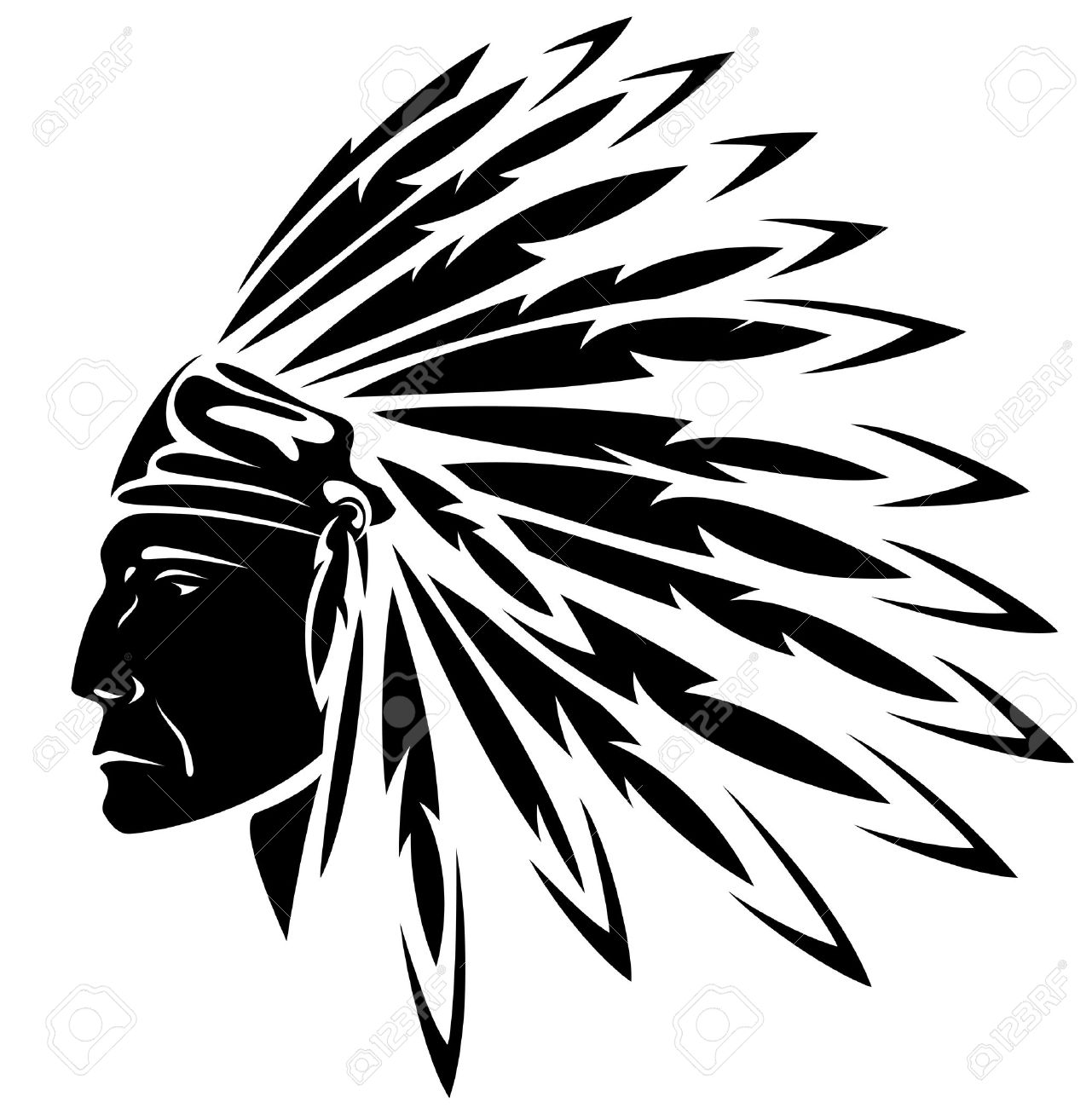 Big chief clipart jpg library Indian Head Clipart | Free download best Indian Head Clipart on ... jpg library