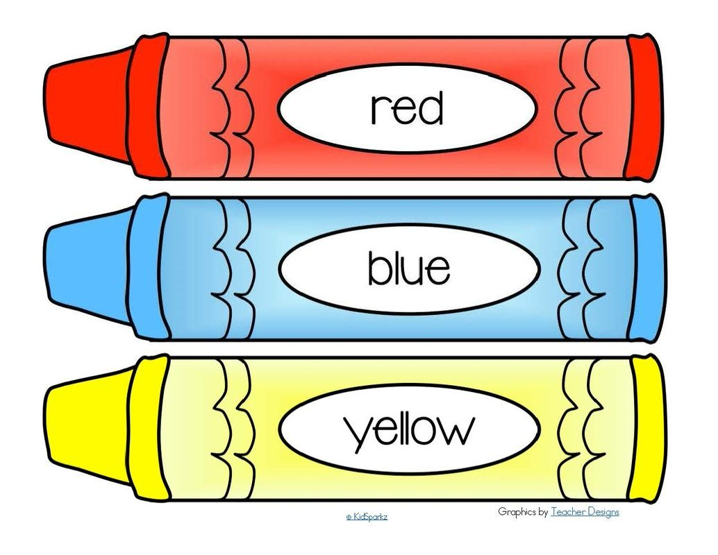 Big crayons clipart library FREE*** Crayons word wall - 11 colors plus a blank b/w crayon. 4 ... library