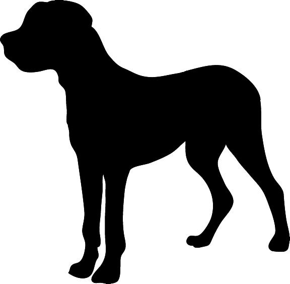 Kid silhouette graphics. Big dog clipart