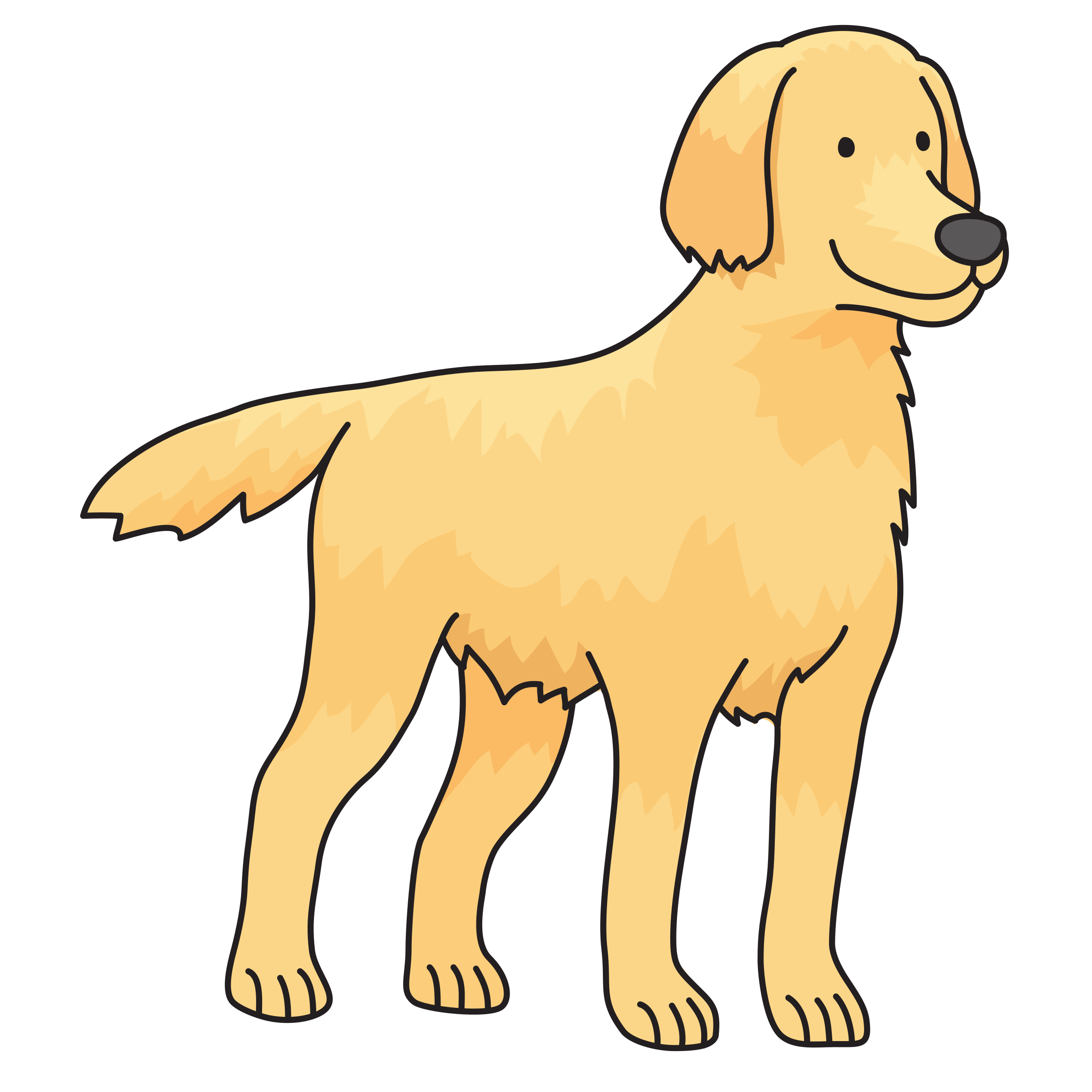 Orange dog clipart clipart black and white download Clipart - dog - Golden Retriever clipart black and white download