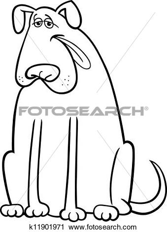 Big dog nose clipart clip art library Clipart of big dog cartoon illustration for coloring book ... clip art library