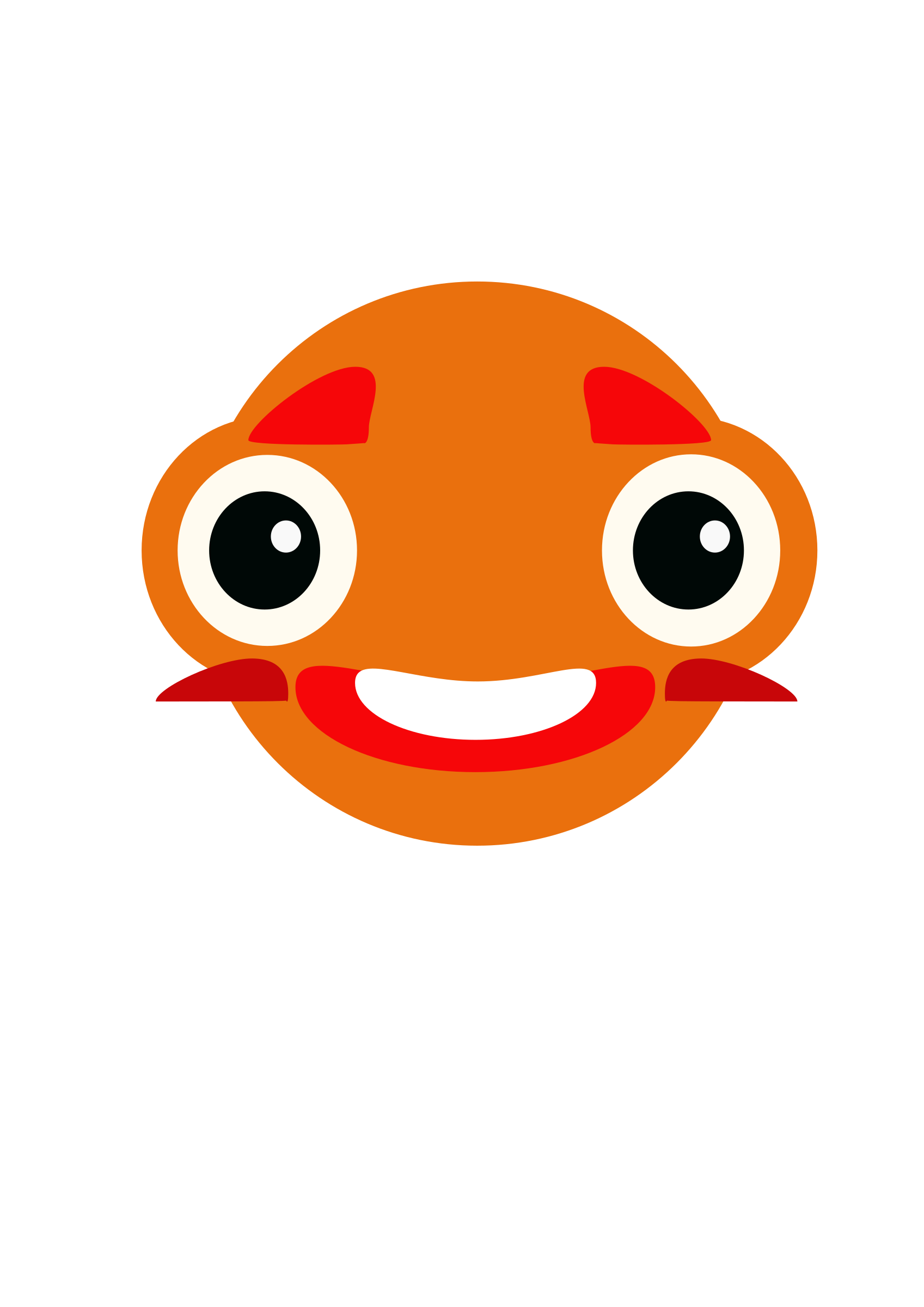 Big eye fish clipart vector library stock Clipart - Pez bicho gelagune vector library stock