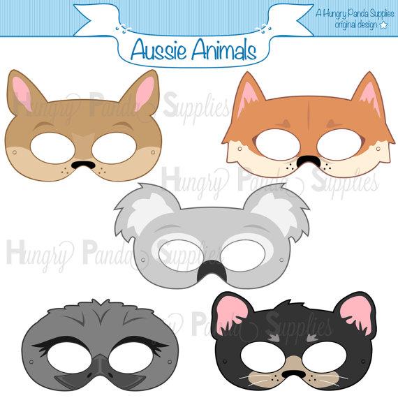 Big eyeaussie animal clipart image royalty free download Australian Animals Printable Masks, aussie animal mask, koala mask ... image royalty free download