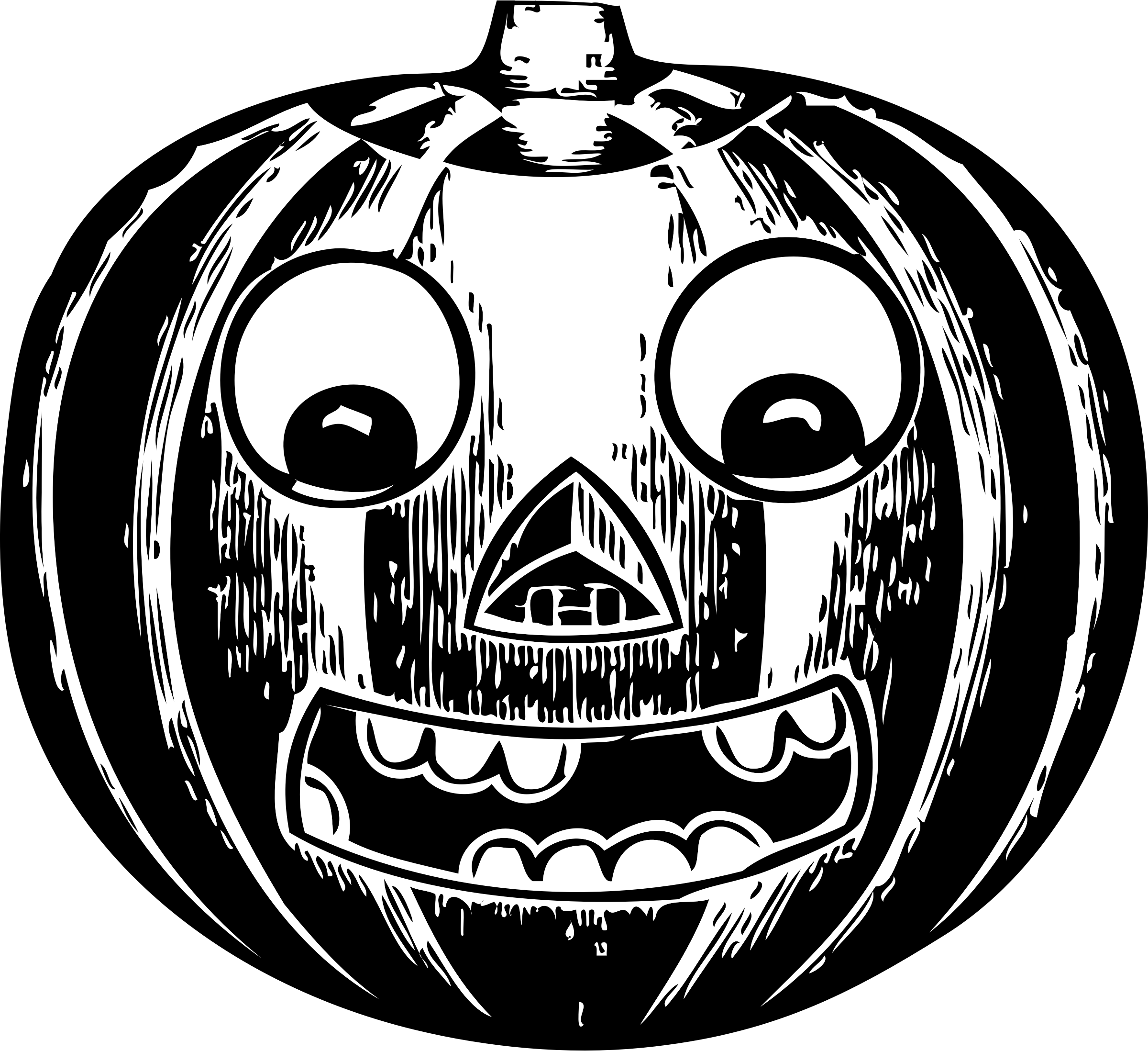 Big eyed pumpkin clipart svg black and white stock Clipart - jack o' lantern with eyes svg black and white stock
