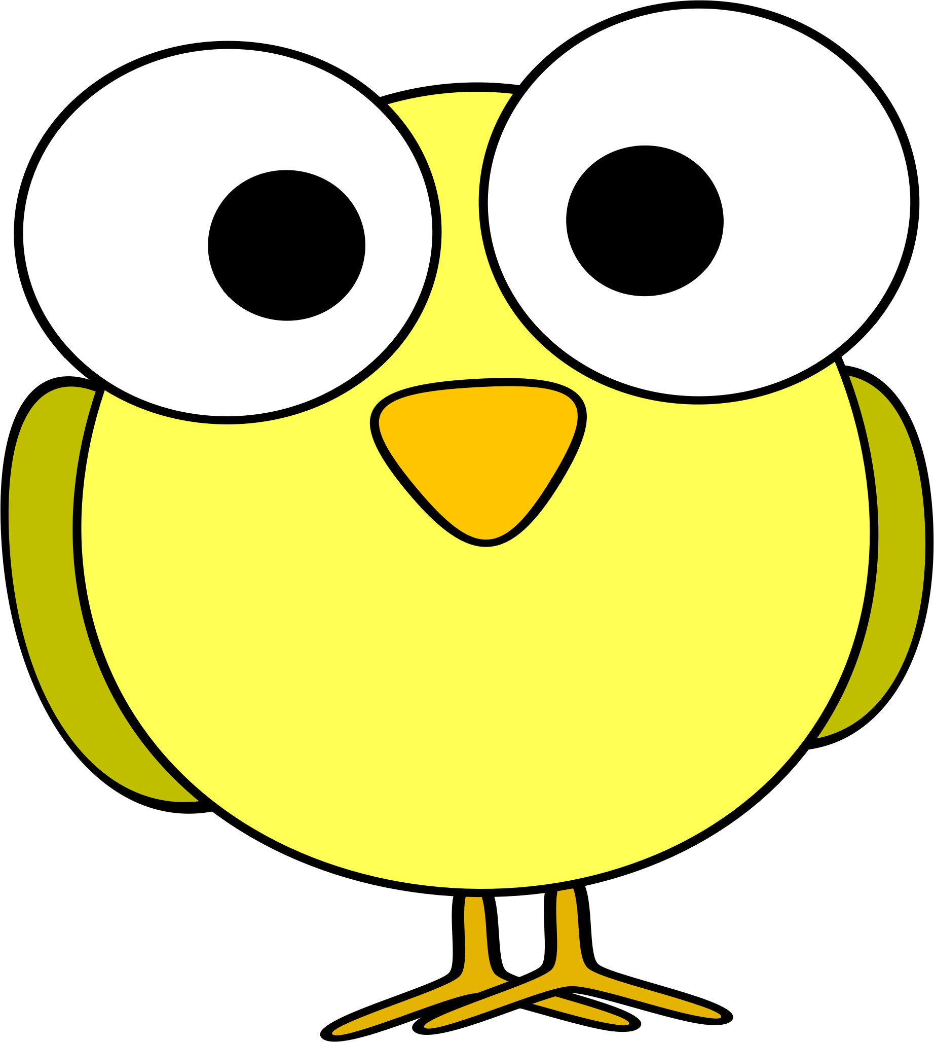 Big eyed pumpkin clipart picture library library A funny-looking yellow cartoon bird with big eyes. #funny #cute ... picture library library