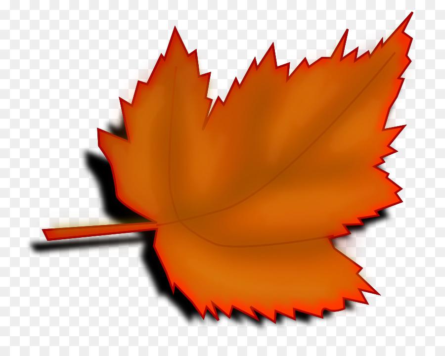 Big fall leaf clipart