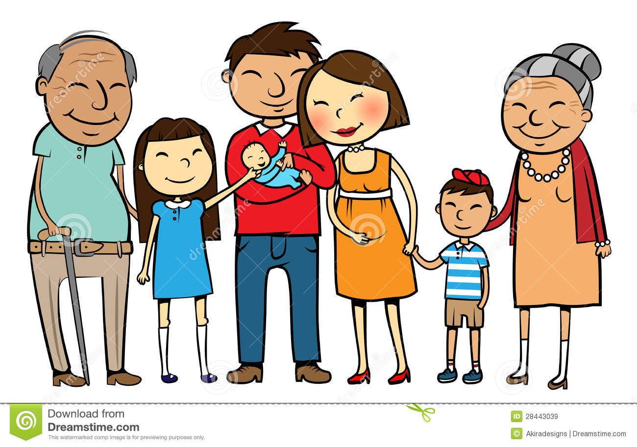 Clipart of a big family clip freeuse stock Big family clipart 9 » Clipart Station clip freeuse stock