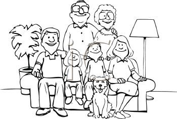 Big family clipart black and white clip art free clip art family | ... of a Family Posed for a Picture - Royalty Free ... clip art free