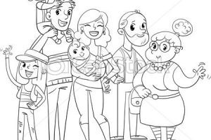 Big family clipart black and white graphic transparent Big family clipart black and white 3 » Clipart Portal graphic transparent