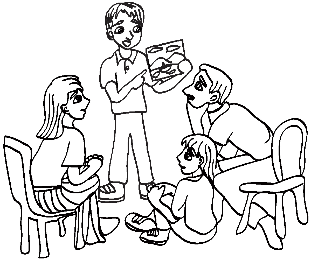 Big family clipart black and white picture black and white download Family black and white large family black and white clipart ... picture black and white download