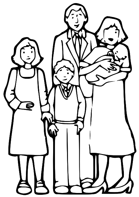 Big family clipart black and white image free Family Black Cliparts - Cliparts Zone image free