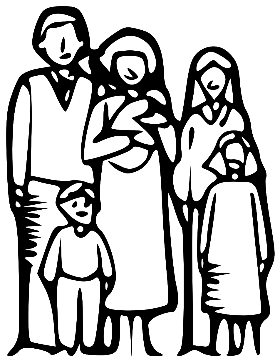 Family clipart black and white 4 people png stock Family Clipart Black And White - 52 cliparts png stock