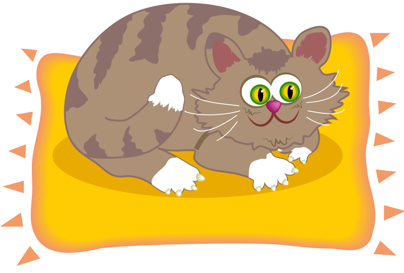 Cat bed clipart image free download Free Fat Cat Clipart, 1 page of free to use images image free download