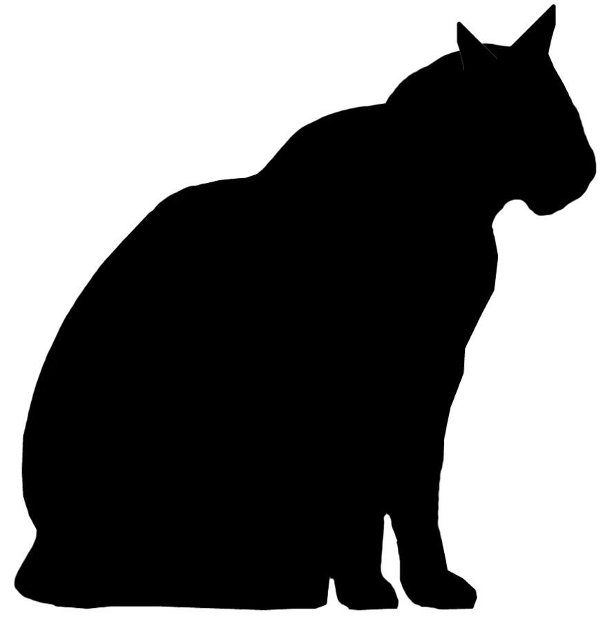 Big fat cat clipart png transparent download Fat Cat Silhouette at GetDrawings.com | Free for personal use Fat ... png transparent download