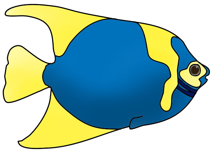 Clip art . Fish with different mouth shapes with color clipart