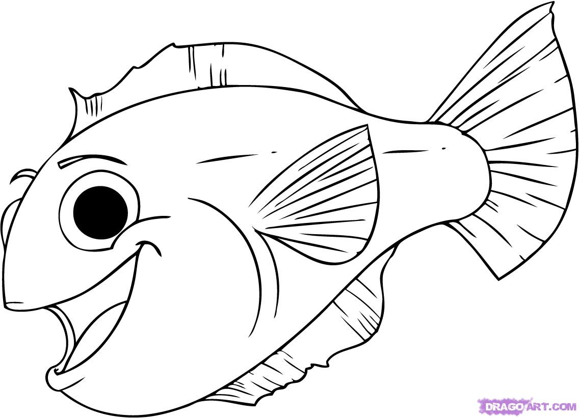 Big fish clipart color black and white stock Free Fish Images Drawings, Download Free Clip Art, Free Clip Art on ... black and white stock