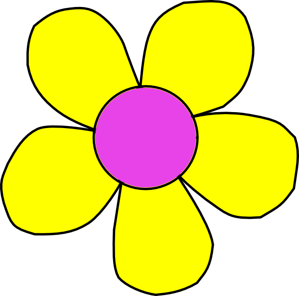 Blank flower clipart picture freeuse library Flower Clip Art at Clker.com - vector clip art online, royalty free ... picture freeuse library