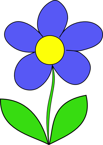Simple clipart flower image freeuse download Cartoon Flowers Clip Art | Simple Flower clip art - vector clip art ... image freeuse download