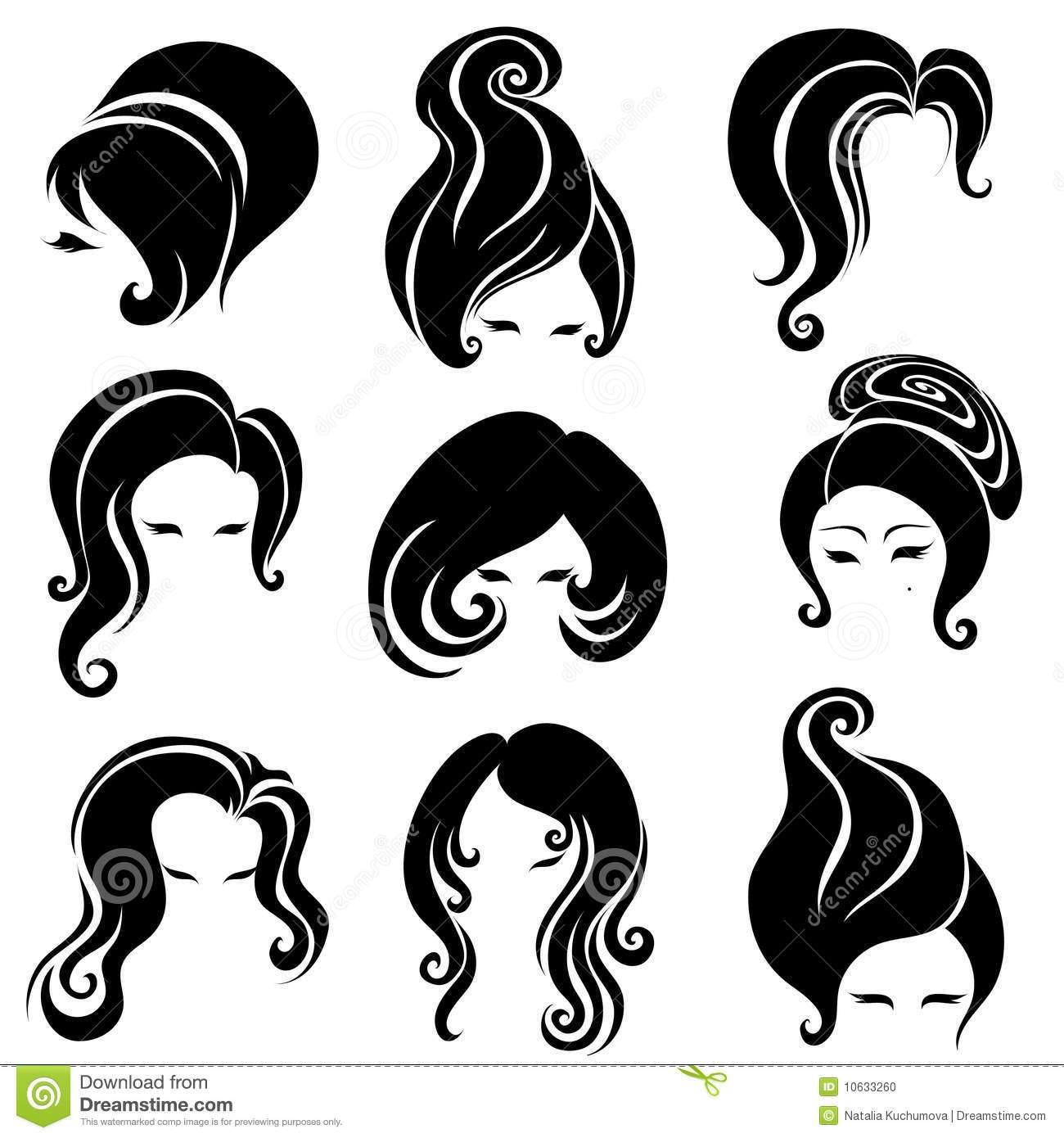 Big hair clipart