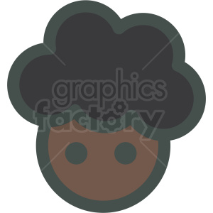 Big hair clipart clip art freeuse black girl with big hair avatar vector icons . Royalty-free icon # 406821 clip art freeuse