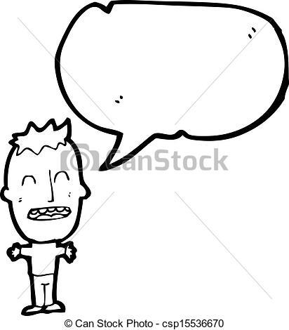 Vectors illustration of cartoon. Big head boy clipart