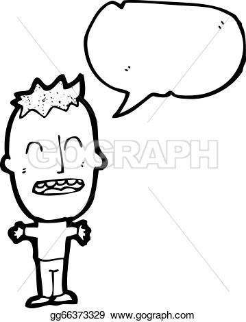 Big head boy clipart. Eps illustration vector gg