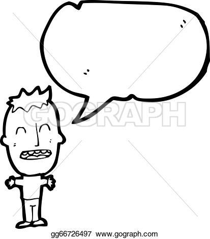 Big head boy clipart. Eps illustration cartoon vector