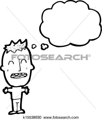 Of cartoon k search. Big head boy clipart