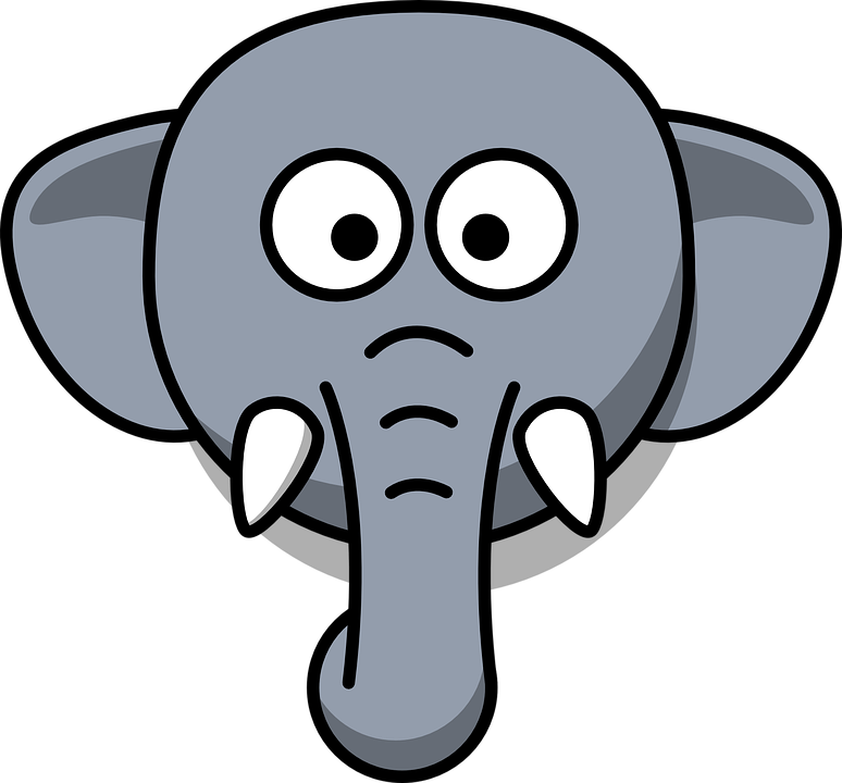 Big head clipart svg free stock Clipart elephant with big head - ClipartFest svg free stock