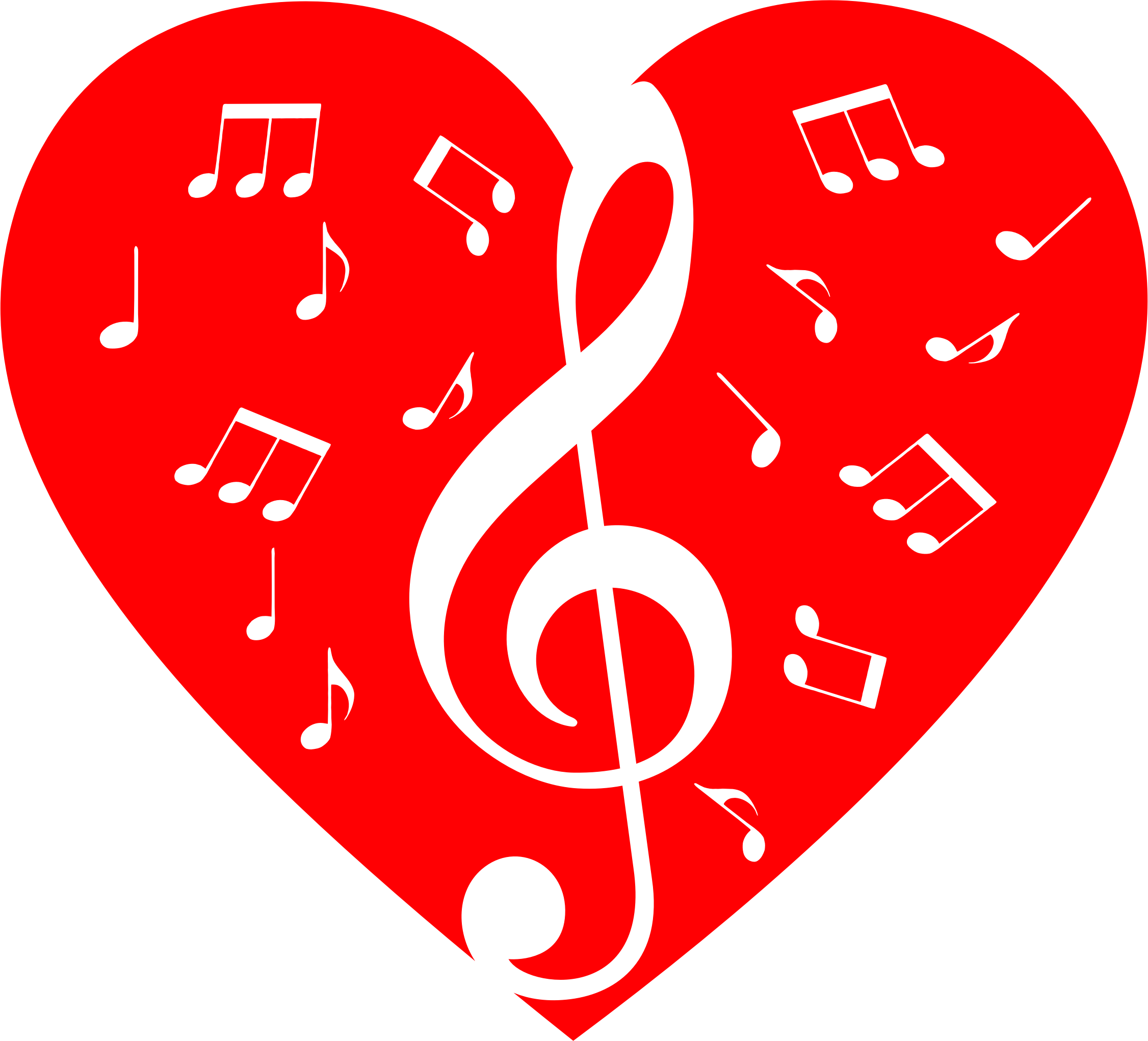 Music note heart clipart clip free Hearts clipart music ~ Frames ~ Illustrations ~ HD images ~ Photo ... clip free