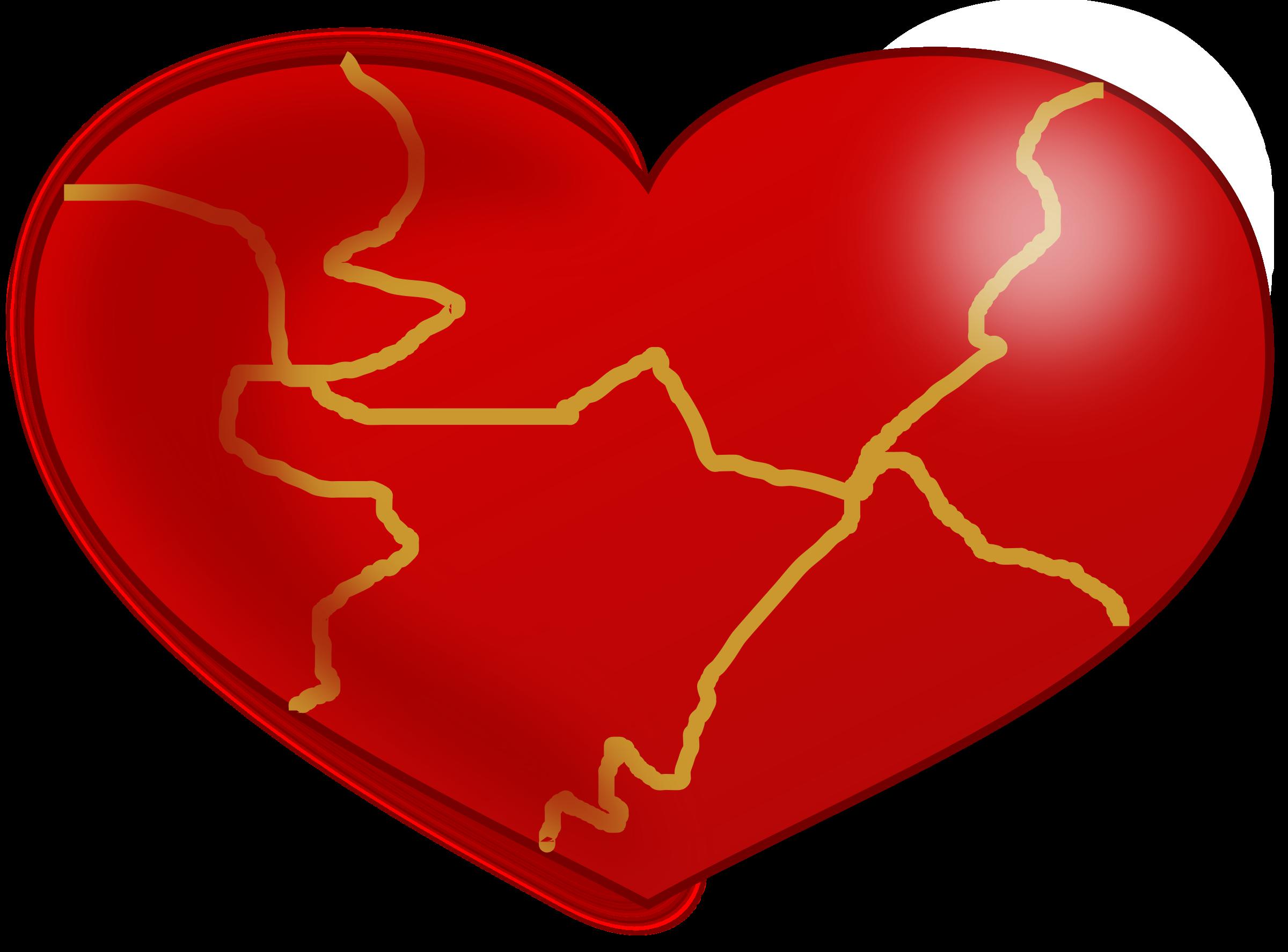 Clipart - Kintsugi Heart jpg royalty free library