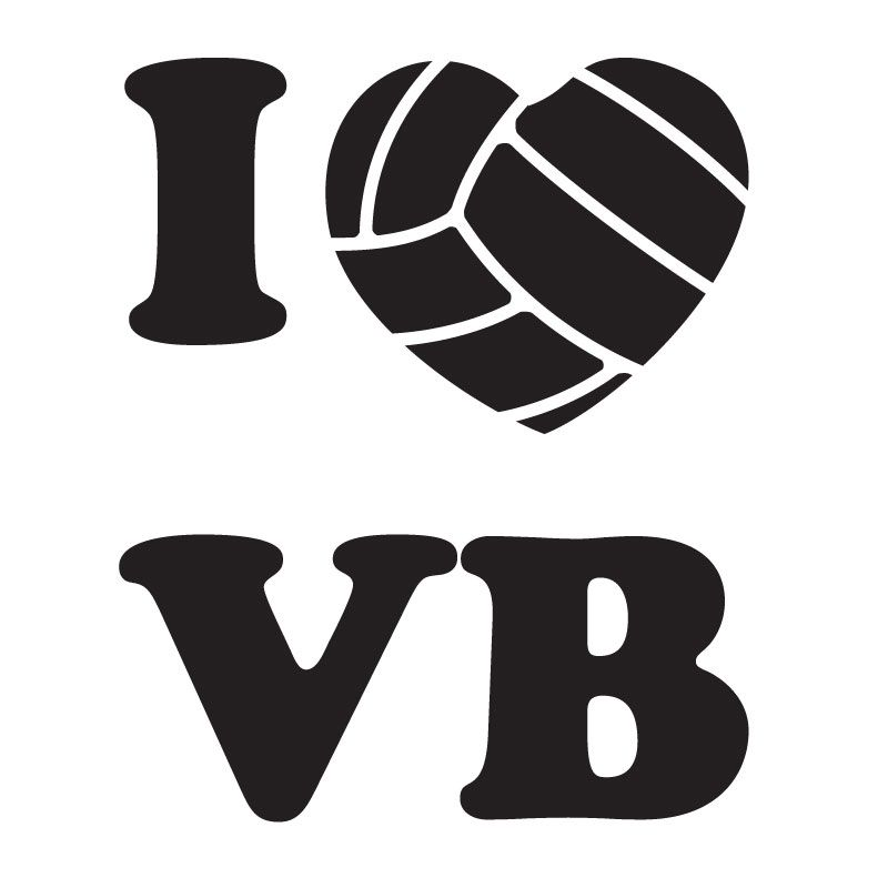 I love volleyball clipart image black and white download Volleyball Clip Art | Volleyball Market - I Love Volleyball Decal ... image black and white download