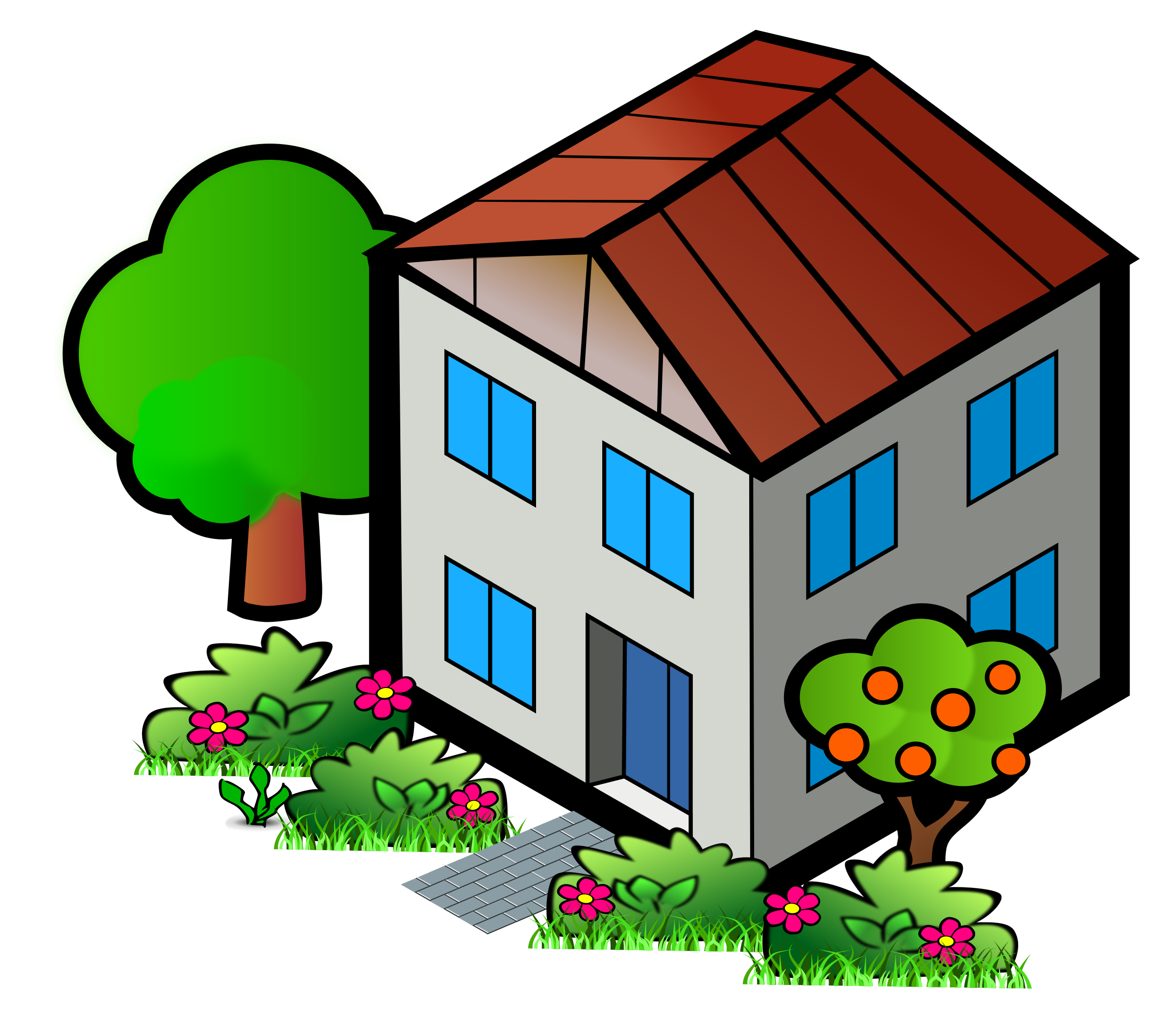 Clipart - Iso City Grey House 2 picture freeuse stock
