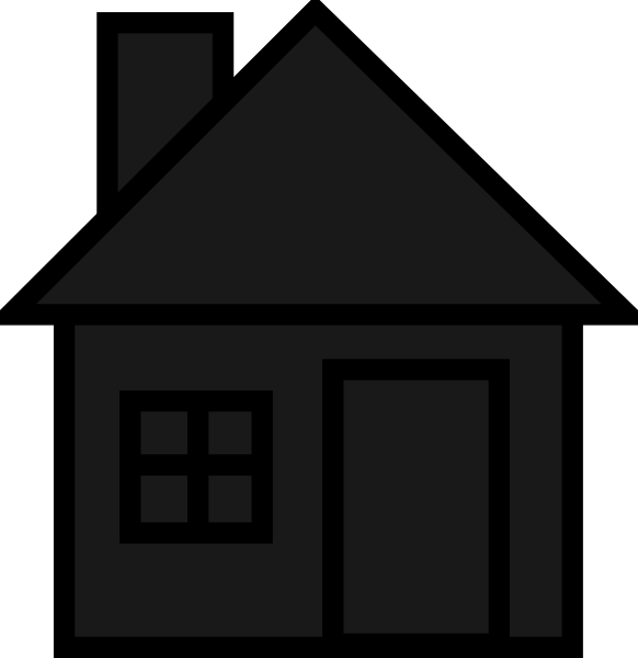 Big house clipart black and white svg transparent library Blackhouse Clip Art at Clker.com - vector clip art online, royalty ... svg transparent library